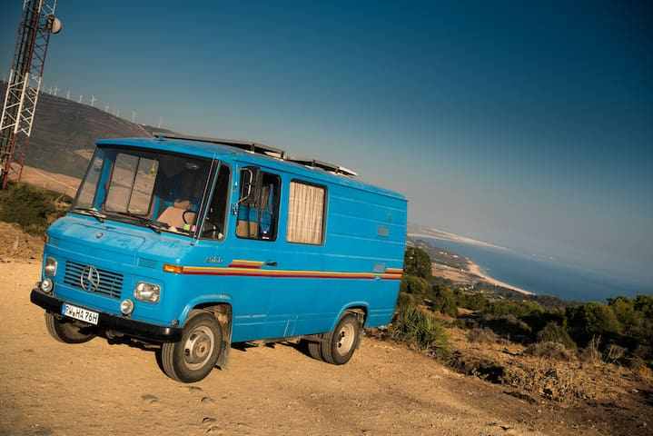 Retro Surfer Camper Van (in private place)