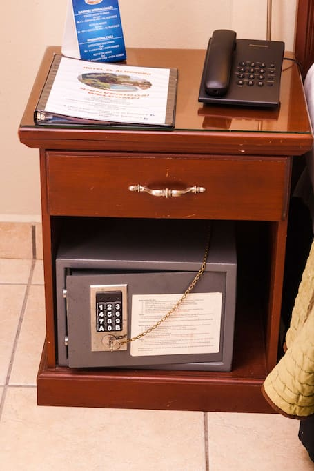 Personal Safe in all rooms