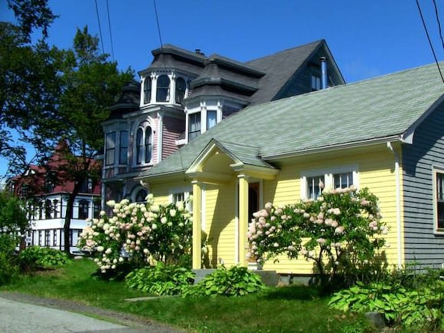 "We are right next door to the famous ""Wedding Cake House"" and the Lunenburg Academy."