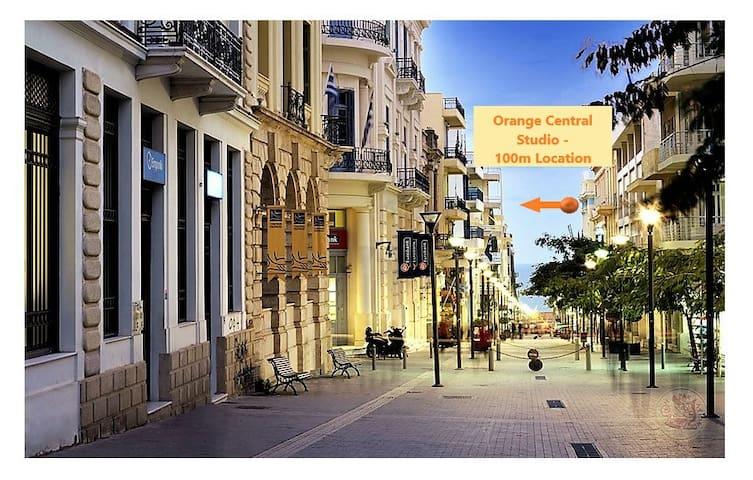 Orange Central Studio ★  Downtown Heraklion