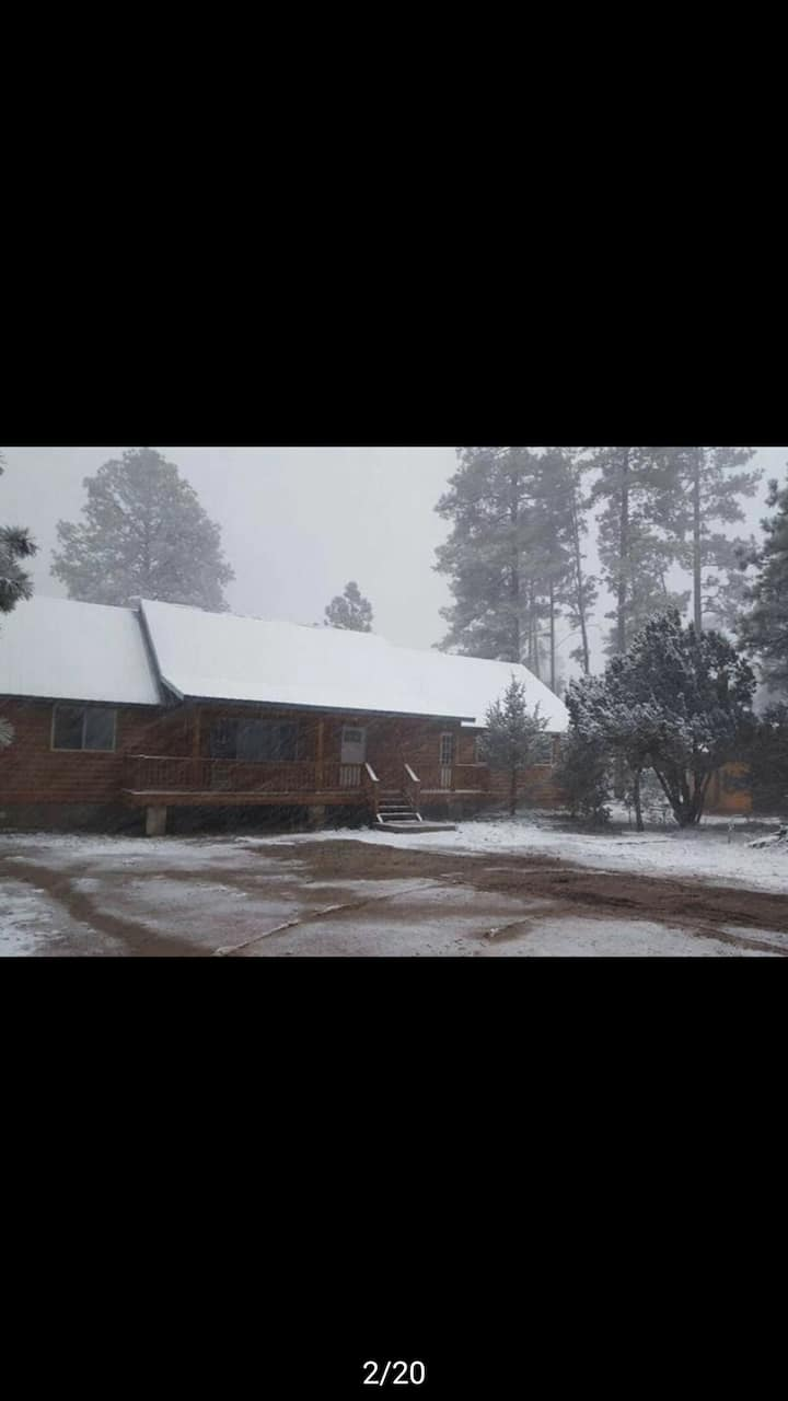 Large  cabin in the pines.