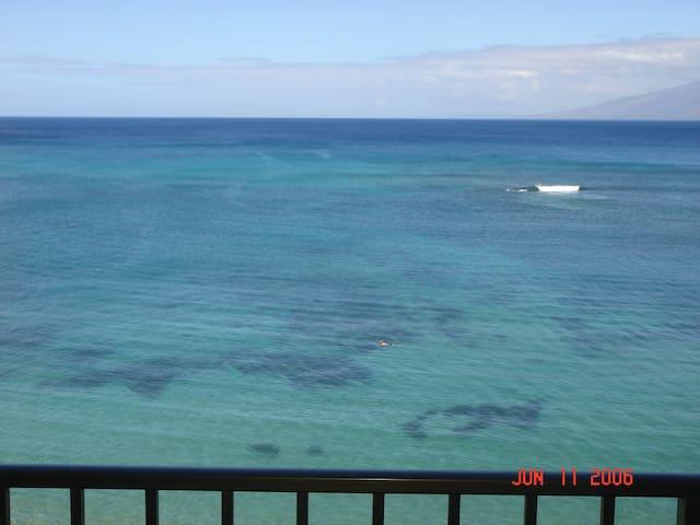 1 week in Maui Ocean Front Resort - Lahaina - Apartment