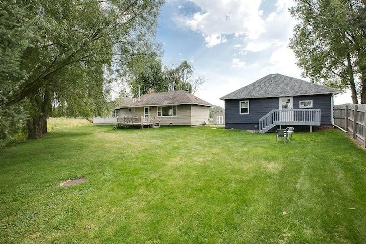 2 Lake homes on Snowmobile Trail