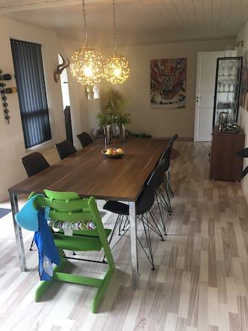 Lækkert familievenligt hus