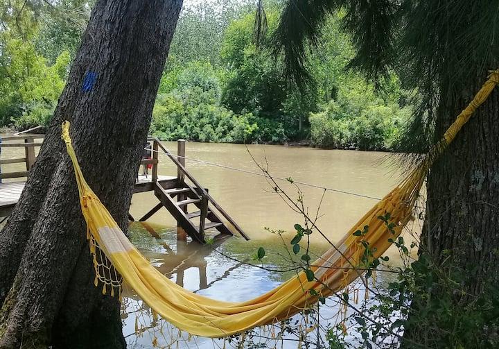 Cabaña Isleña  a la ribera del río, Delta  Tigre.