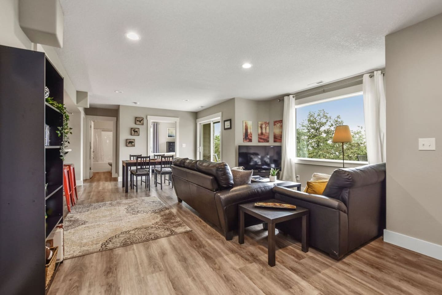 Enjoy a spacious and beautifully appointed, full apartment suite with open concept living room and dining rooms.