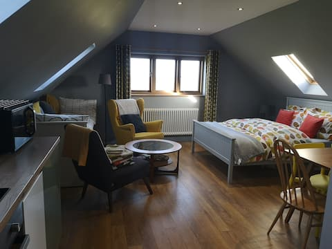 The loft; self contained space with beautiful view