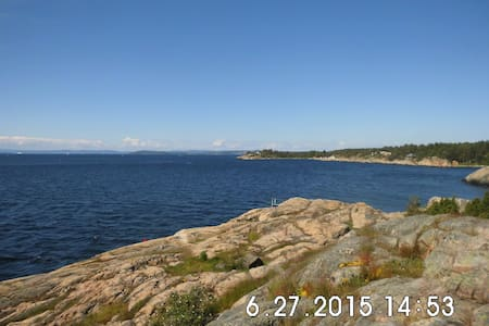 Idyllically situated by the sea - Rygge - バンガロー