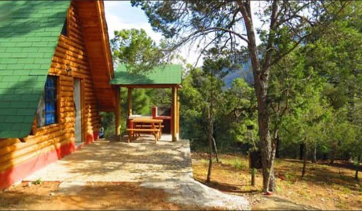 Cabaña #5 para 4 personas Los Lirios Arteaga Coah.