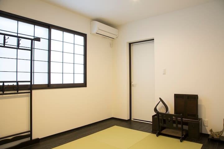 Private Japanese room with a private bathroom