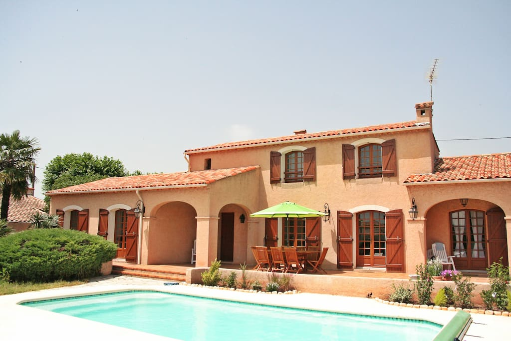 This is our large villa with pool
