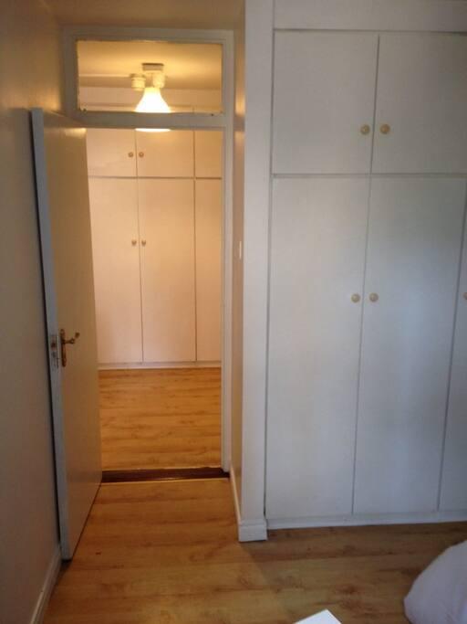 Bedroom 1 (1 bed) - backs on to hallway & bathroom