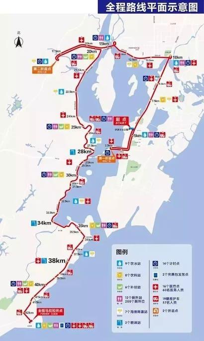 在三居室两个卧室都可观察到中国东盟国际马拉松赛全程赛道