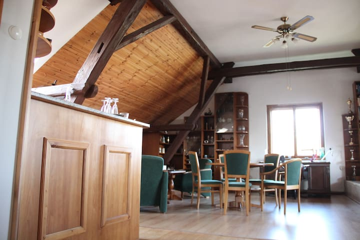Beautiful loft apartment - Prague-East District - Huis