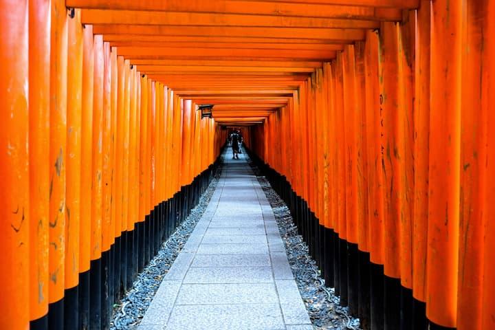 Brick Wall Style Studio 200m To Fushimi Inari W/BA