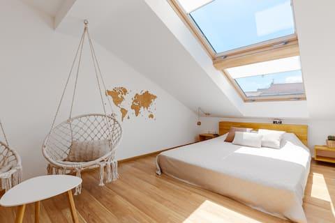 Chambre à toit blanc