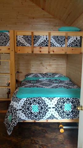 Beautifully dressed bunk beds