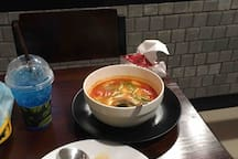 Famous Tom Yam Kung on site food shop