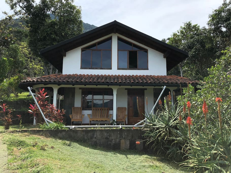 Front view of the house, there are so many areas for you to relax
