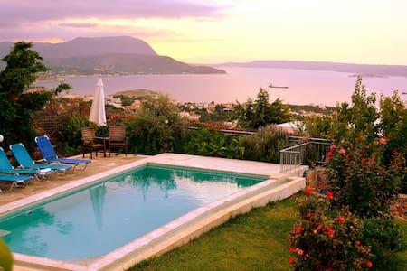 Sea View Villa I in Crete with swimming pool - Kokkino Chorio - House