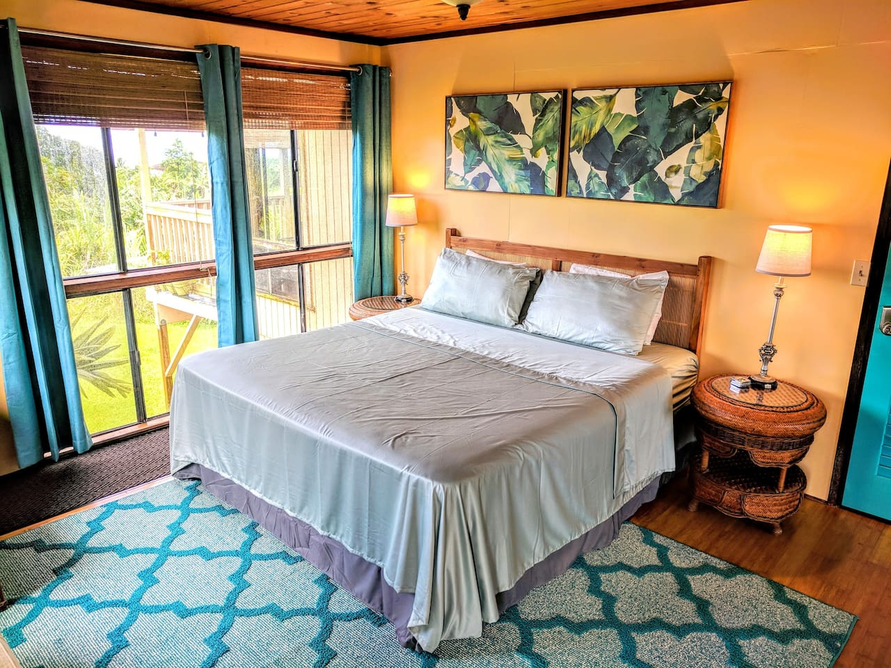 Room #3.  We have two king rooms in the house with the same amenities, but they are decorated differently.  Your room will be assigned automatically based on the other reservations that have come before yours.