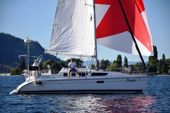Sail away on Okanagan lake with Tiramisu Sailing!