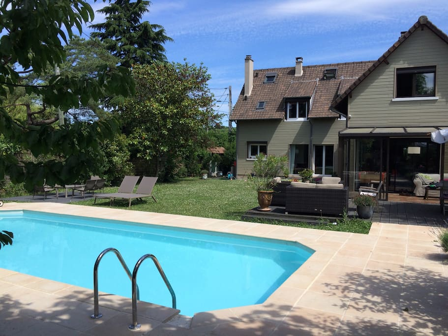 Big House With Swimming Pool 25 Min From Paris Houses For Rent In Bougival Le De France France