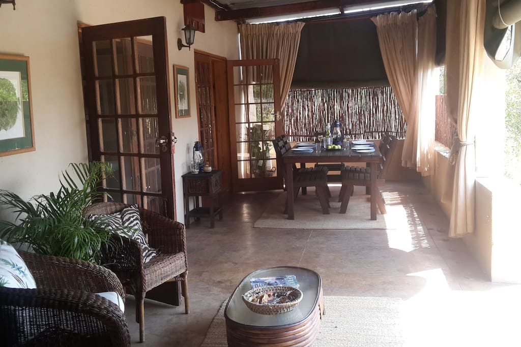 into a spacious enclosed verandah
