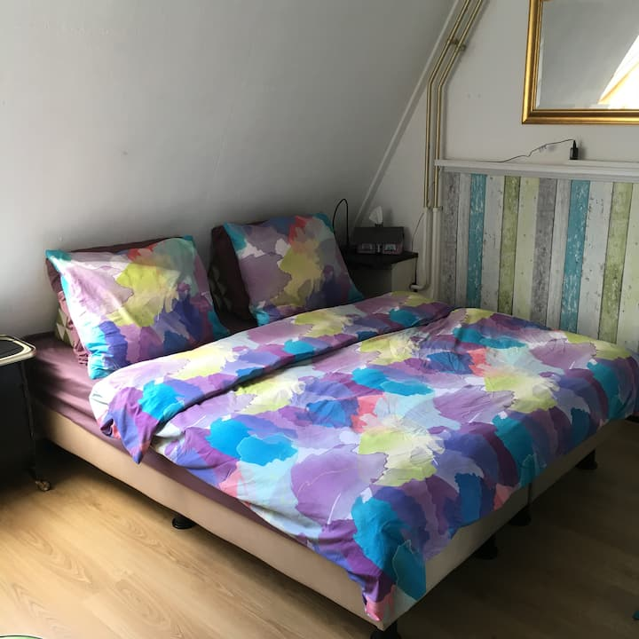 Cosy bedroom in family home in Oosterpoort