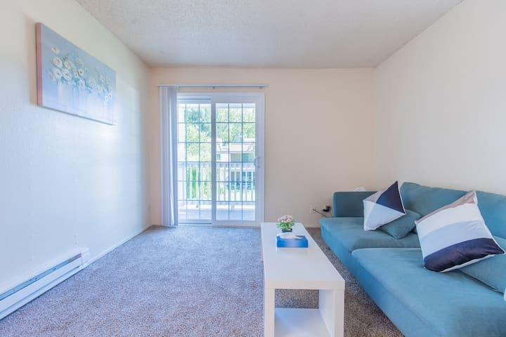 Cozy and Modern 1BR Apt Free wifi in Central MTV