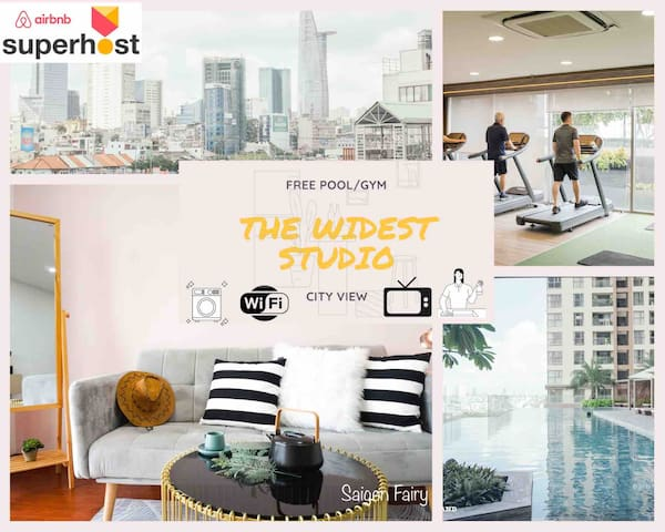 ⭐ FREE Pool/Gym⭐SpEcIaL STUDIO❤️Balcony+River view