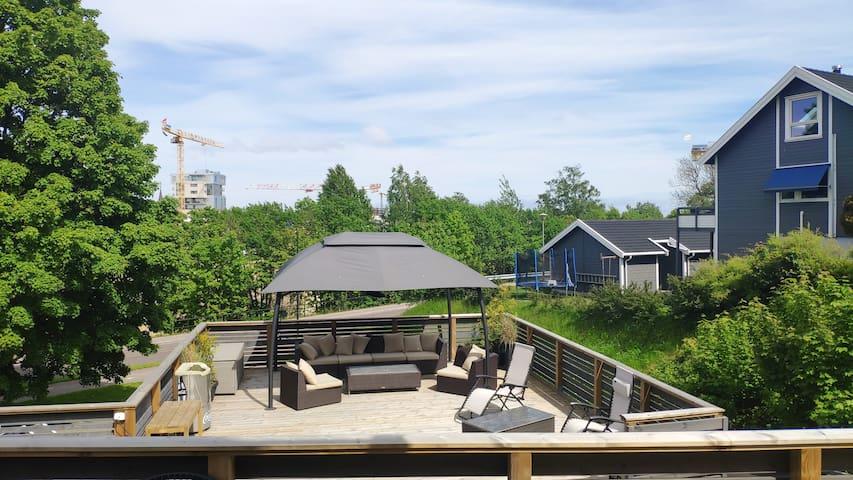 Leilighet med store terrasser nær Tønsberg brygge