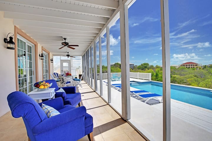 Grace House- Stylish hill top villa with pool