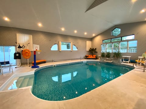 Indoor Pool & Arcade, Resort-like home by beaches