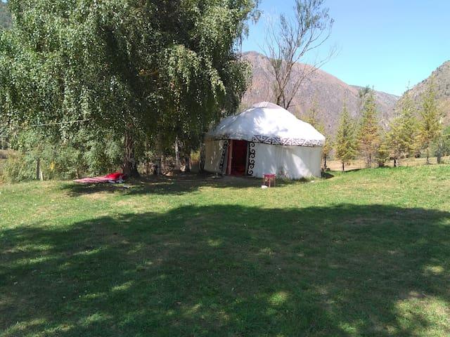 """Kyrgyz Ata ethno-yurt camp"""