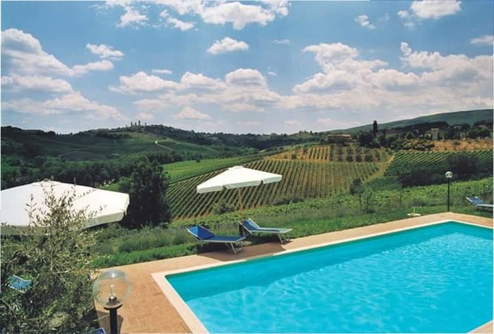 Casa Spina - Apartment with pool near San Gimignano in Tuscany