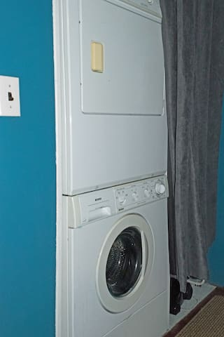 One load of laundry is free for short stay.