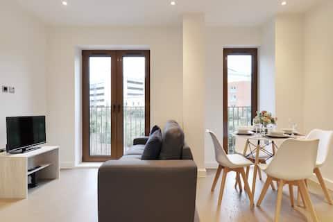 Apartamento de 1 cama de luxo, St Albans, WIFI rápido, moderno