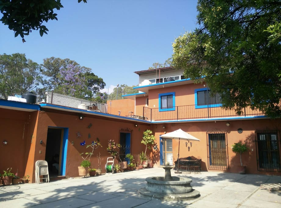 The apartment offers privacy and great places for staying during your vist to Oaxaca