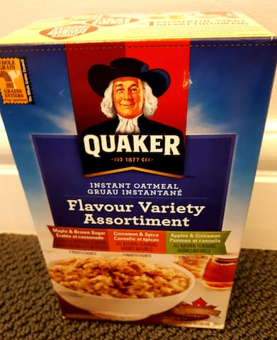 A box of this type of cereal is always  provided free of charge, as a gift to all our guests-an easy breakfast!