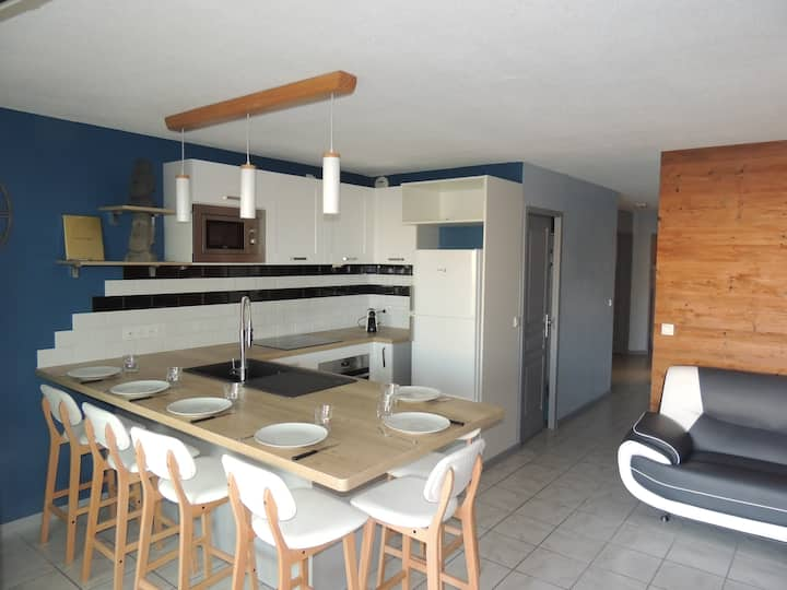 Beachfront apartment in Vieux Boucau
