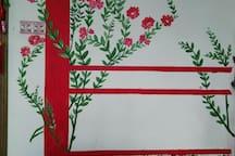 墙上的春色