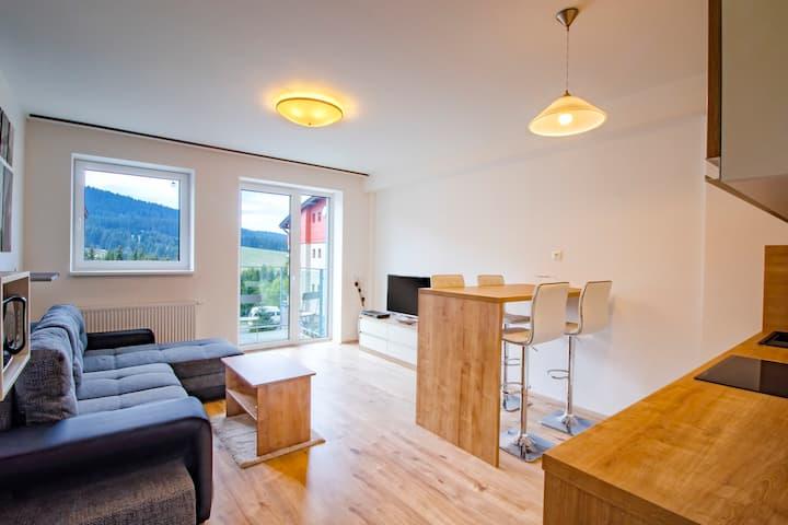 KLINOVEC VIEWS, 1Bed apartment with Finnish Sauna
