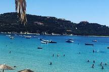 Take a ferry boat from Tripiti (10 minutes drive from the villa) to the island of Ammouliani.