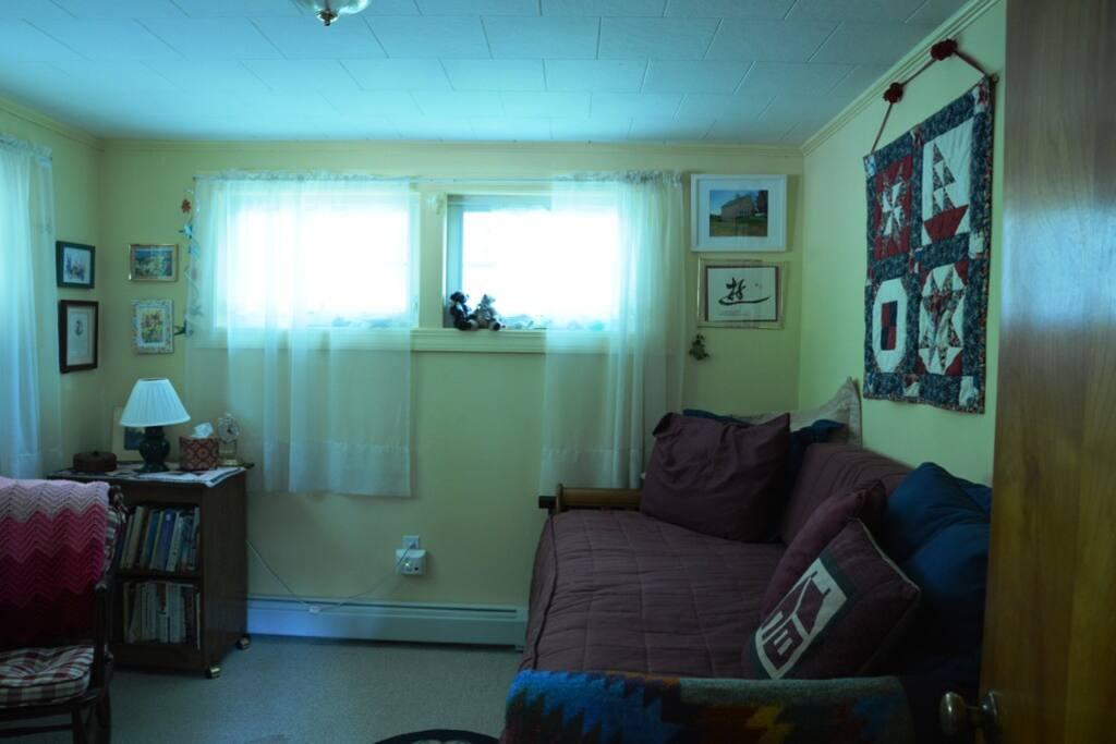 Guest bedroom viewed from door