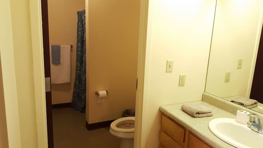 Your clean and spacious private bathroom