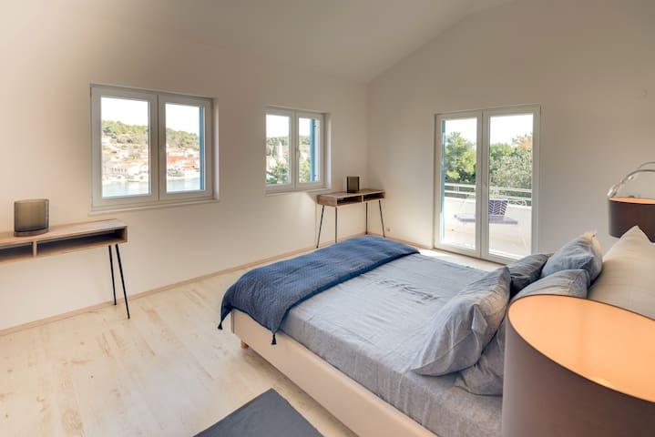Master bedroom on the second floor