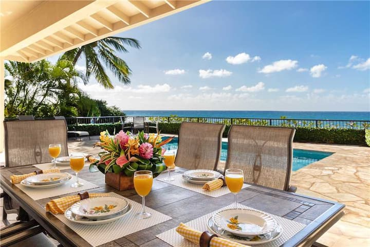 Poipu Beach Ocean Front Endless Ocean Views  *Poipu Hana Hou Hale*