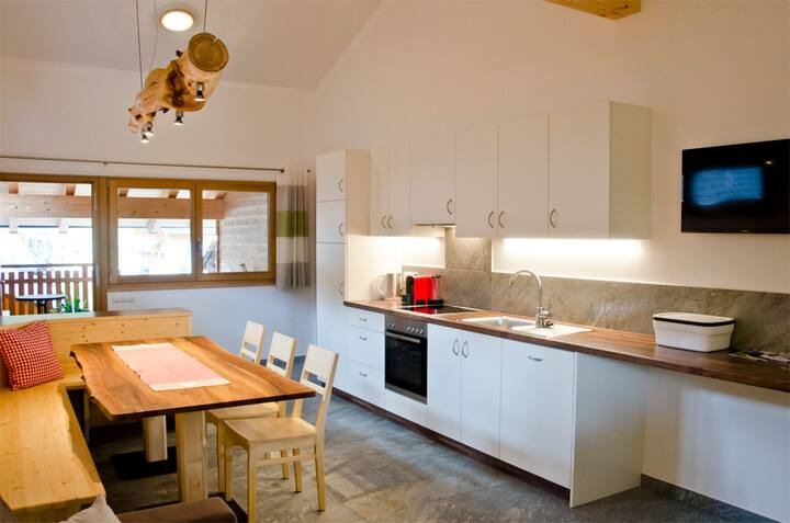 """Charming Holiday Apartment """"Ferienwohnung Edelweiss"""" on a Mountain Farm, with Balcony, Community Garden and Sauna, Wi-Fi & TV; Parking Available"""