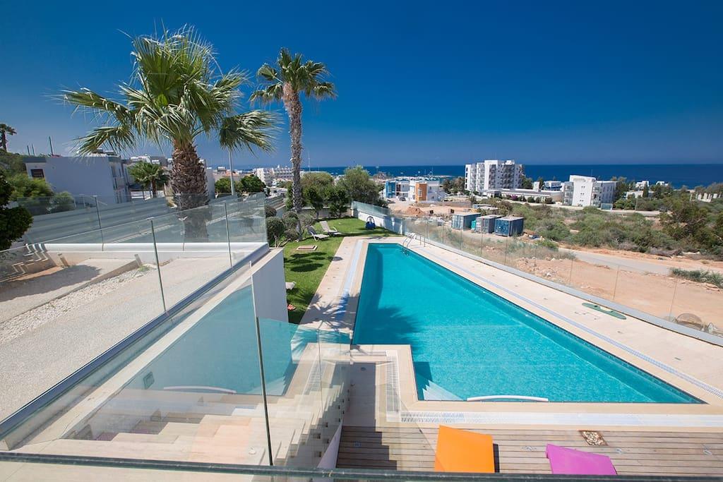 Villa Blue with sea views